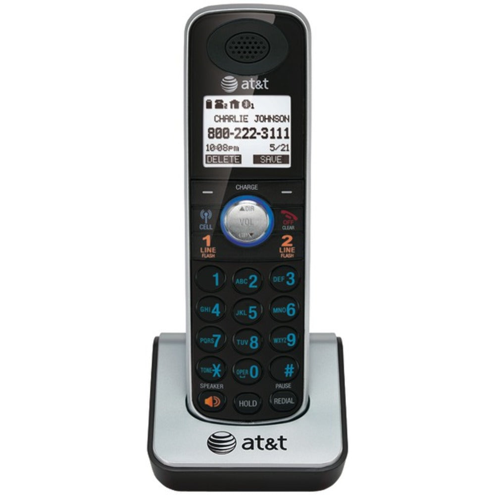 AT&T(R) TL86009 DECT 6.0 2-Line Corded/Cordless Phone System with Blue