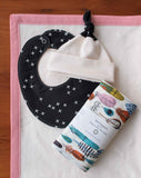 Organic Cotton Baby Blanket, Hat, Bib, Burp Cloths