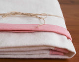 Petal Pink, Cream Flannel Receiving Blanket
