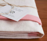 Pink and Ivory Flannel Baby Blanket