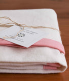 Organic Cotton Baby Blanket, Pink