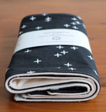 Black and Cream Stars Burp Cloths for Baby Boy or Girl