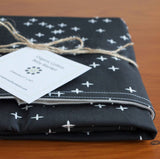Modern Black and Cream Stars Baby Blanket