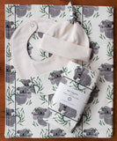 Koala Baby Blanket, Hat, Bib, Burp Cloths