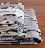 Charley Harper Birds Baby Blanket and Burp Cloths