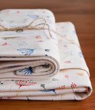 Rainbow Twigs Baby Blanket and Burp Cloths Gift Set