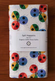 Baby Burp Cloths with Colourful Ladybugs