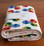 Rainbow Ladybugs Baby Burp Cloths