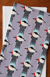 Grey Birds Organic Cotton Burp Cloths