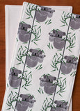 Striped Grey Koala Burp Cloths