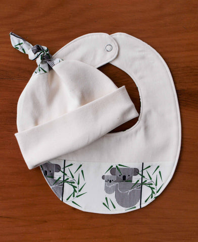 Koala Baby Newborn Baby Hat and Bib Gift Set