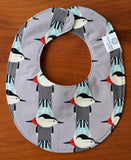 Modern Birds Drool Bib for Baby Boy or Girl