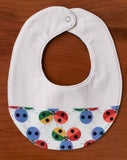 Rainbow Ladybugs Teething Bib for Baby Boy or Girl