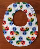 Rainbow Ladybugs Drool Bib