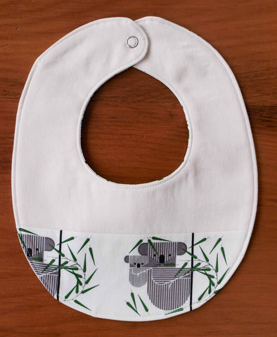 Koala Drool Bib for Baby Boy or Girl