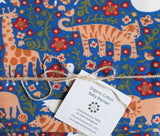 Organic Cotton Baby Blanket with Tigers, Giraffes, Lions