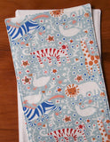 Pale Blue Burp Cloths with Lions, Tigers, and Giraffes