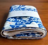 Blue and Ivory Animal Print Burp Cloths for Baby Boy or Girl