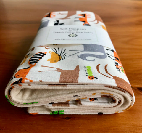 Forest Friends Burp Cloths, Set of Two