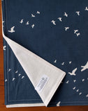 Navy Organic Cotton Baby Blanket