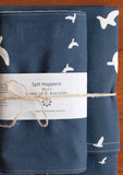 Modern Bird Baby Burp Cloth, Blanket Set
