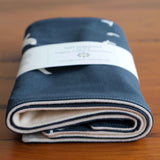 Simple Blue and Cream Burp Cloths