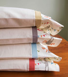 Organic Flannel Pillowcases with Woodland Party Trim