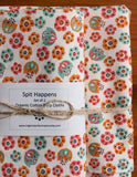 Baby Blanket and Burp Cloths Gift Set, Tulip Toss