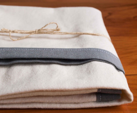 Flannel Swaddling Blanket, Shadow Grey