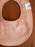 Handmade Pink and Gold Baby Teething Bib