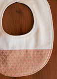 Pink and Gold Baby Teething Bib