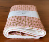 Gold and Pink Baby Burp Cloths Gift