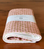 Pink and Gold Baby Blanket and Burp Cloths, Newborn Baby Gift, Shimmer
