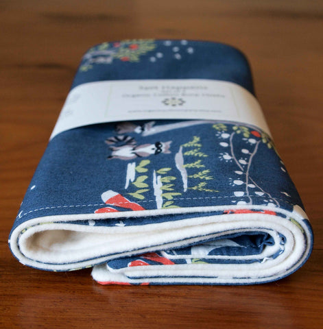 navy blue animals baby burp cloths gift