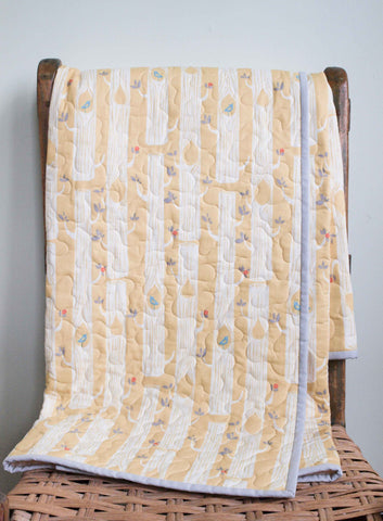 Yellow Woodland Baby Quilt