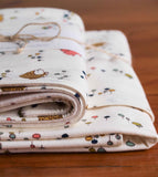 Woodland Animal Baby Blanket and Burp Cloth Gift Set, Meadow Run