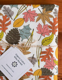 Colourful, Woodland Leaves Organic Cotton Receiving Blanket