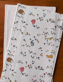 Woodland Animals Baby Burping Cloths, organic cotton