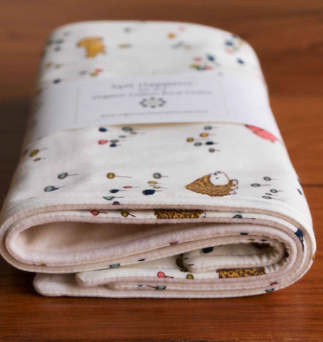 Woodland Animals Baby Burp Cloths