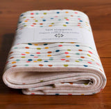 Rainbow Polkadot Baby Burp Cloths, Organic Cotton