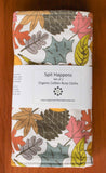 Colourful Autumn Leaves Baby Burp Cloths, Organic Cotton