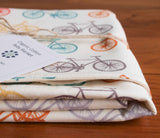 unisex bicycles baby blanket gift, multi-colour