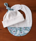 Bluebird Baby Hat and Drool Bib Gift Set
