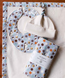 Bank Swallow Baby Blanket, Burp Cloths, Hat, Bib