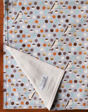 Gray Polka Dot, Modern Birds Baby Blanket for Boy or Girl