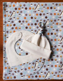 Bank Swallow Baby Blanket, Hat, Bib