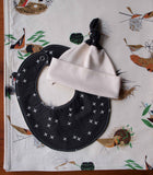 Modern Birds Baby Blanket, Hat and Bib for Boy or Girl
