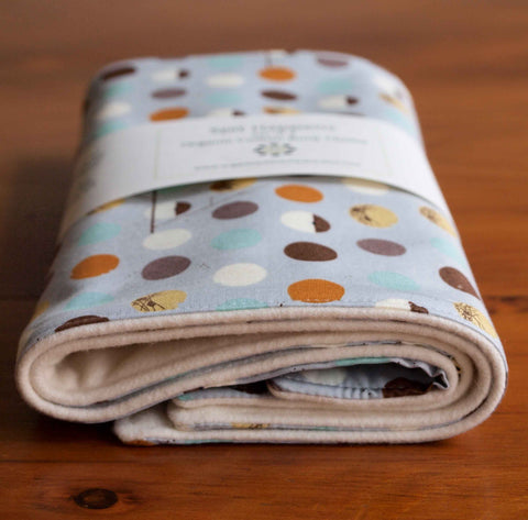 Gray Polka Dot Charley Harper Birds Burp Cloth Set