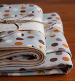 Modern Birds Baby Blanket and Burp Cloth Set for Boy or Girl