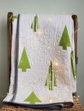modern christmas tree quilt